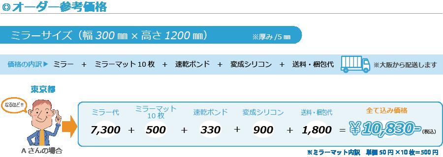 ミラーマット値段