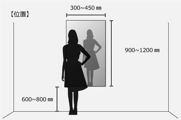 全身が映る姿見サイズ例