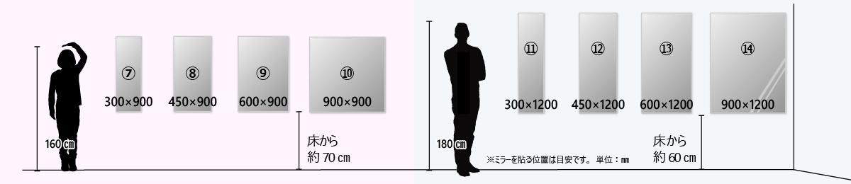 サイズM:全身が見えるサイズ
